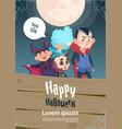 happy halloween trick or treat banner cute kids vector image