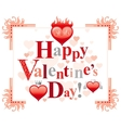 Happy Valentines day border romance love text vector image vector image