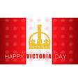 happy victoria day vector image vector image