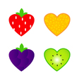 heart shaped fruit vector image vector image