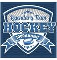 Hockey team logo template Emblem logotype vector image vector image