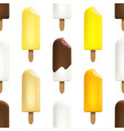 ice cream seamless pattern on white background vector image