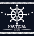 icon nautical timon boat label isolated vector image vector image