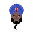 indian face in turban angry emoji head man of vector image