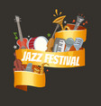 jazz festival or party with musical instruments vector image
