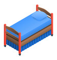 kid bed icon isometric style vector image