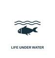 life under water icon creative element design vector image