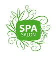 logo floral ornament for the spa salon vector image vector image