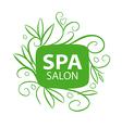 logo floral ornament for the spa salon vector image