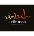 Logo sound wave studio music dj audio system vector image vector image