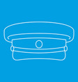 military hat icon outline style vector image vector image