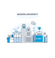 modern university education training knowledge vector image vector image