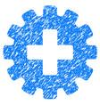 plus gear grunge icon vector image vector image