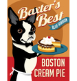 poster Boston Terrier dog vector image vector image