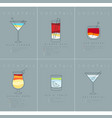poster cocktails blue lagoon grayish blue vector image vector image