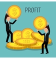 profitable growth design vector image vector image