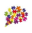 puzzle jigsaw game figure icon graphic vector image vector image