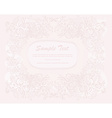 romantic invitation card vector image vector image
