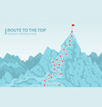 route to the top mounting climbing vector image vector image