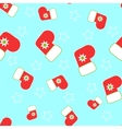 Seamless Christmas stocking vector image