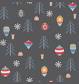seamless pattern with christmas symbols vector image vector image