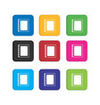 set colorful note icon for smart phone vector image vector image