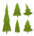 set of christmas tree in cartoon style vector image vector image
