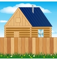 Solitary house on nature vector image vector image