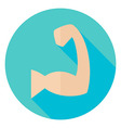 Sport Human Muscle Hand Circle Icon vector image vector image