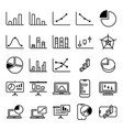statistic graph icon set vector image vector image