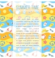 Summer Holidays Flyer Template vector image vector image