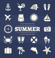 summer vacation icons set - travel adventure icon vector image vector image