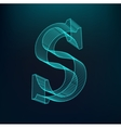 The letter S Polygonal letter Low poly model vector image vector image