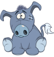 The stuffed toy burro cartoon vector image