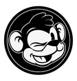 Vintage cartoon Smiling and winking retro cartoon vector image vector image