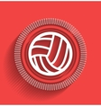 Volleyball icon flat modern design