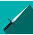 Wakizashi weapon flat icon vector image vector image