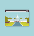 white house washington dc american digital vector image