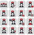Nurses icons vector image