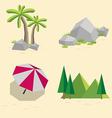 set of landscapes vector image