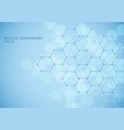 abstract geometric hexagon structure medical vector image vector image