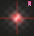abstract red laser beam the vector image