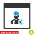 Atomic Engineer Calendar Page Eps Icon vector image vector image