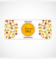 autumn leaves banner white background vector image