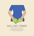 Back Side Of Ball Boy Tennis vector image vector image