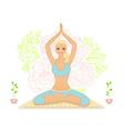 Beautiful woman doing youga exercises vector image vector image
