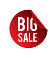 big sale red circle frame banner image vector image