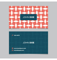 business card pattern red 12 vector image vector image