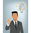 Businessman idea Creative brain Idea vector image