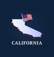 california state isometric map and usa natioanl vector image vector image